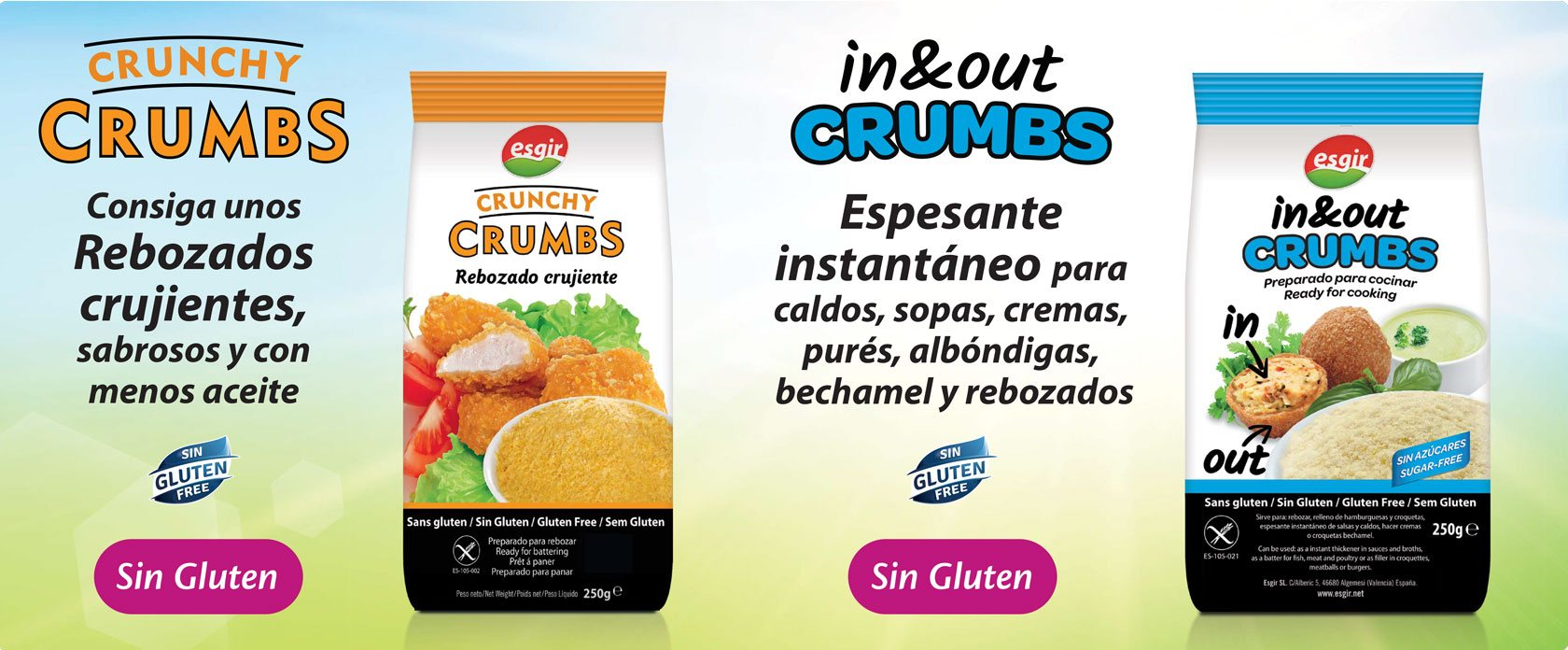 crunchy crumbs y in&out banner