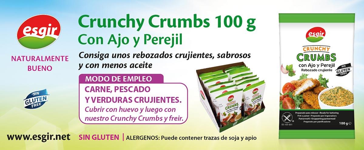 Rebozados Crunchy Crumbs con ajo y perejil