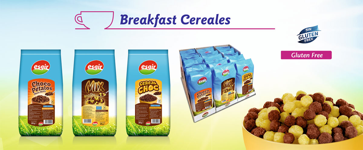 Gluten free breakfast cereals