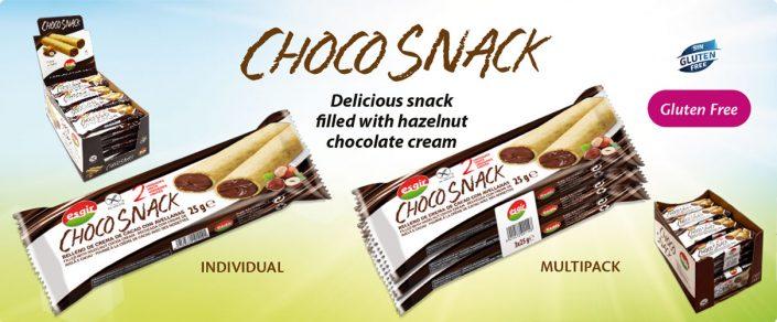 Gluten free choco snack, alimentos sin gluten