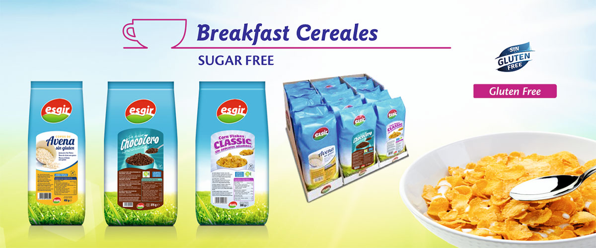 Sugar free breakfast cereals