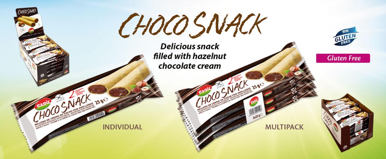 Gluten free choco snack