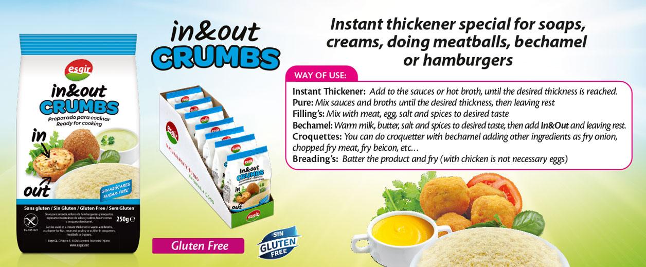 Gluten free in out crumbs product esgir cereales for Cocinar quinoa hinchada