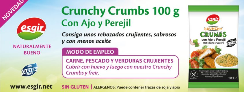 Crunchy Crumbs Ajo y Perejil