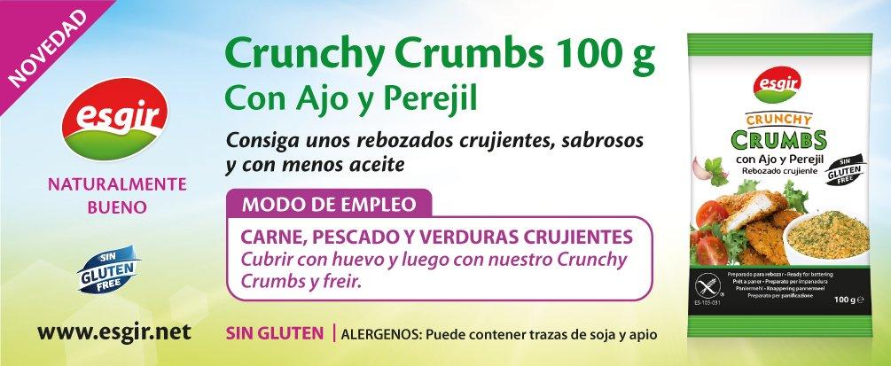 Crunchy Crumb con saber ajo y perejil
