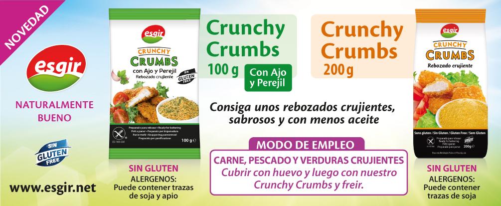 Crunchy Crumbs sabor Ajo y Perejil