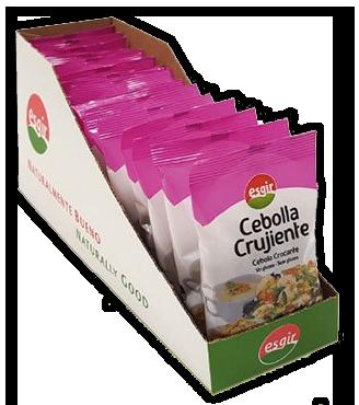 Cebolla crujiente sin gluten Caja 10 unidades