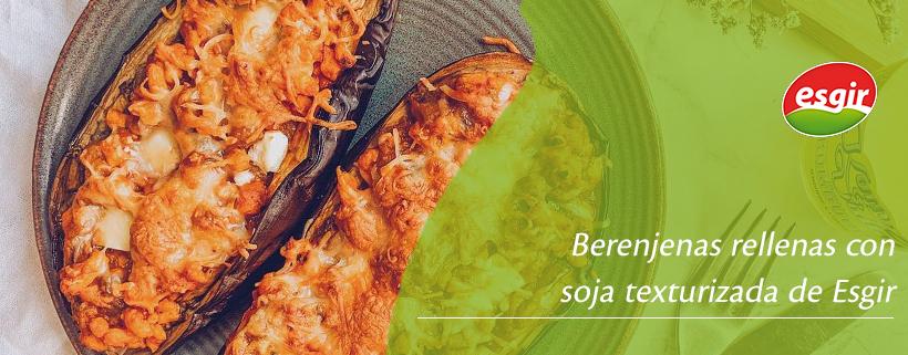berenjenas rellenas con soja texturizada de esgir