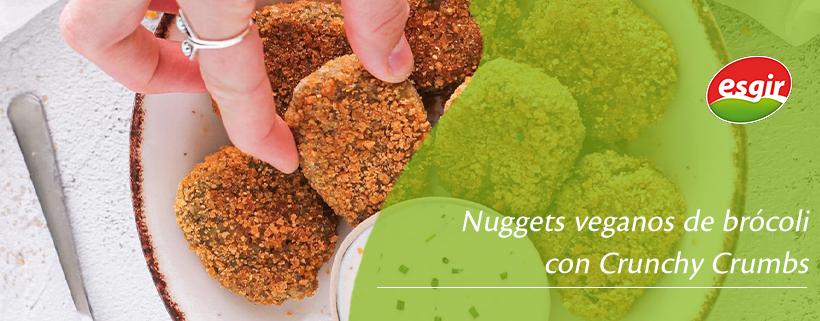 Nuggets veganos de brócoli con Crunchy Crumbs
