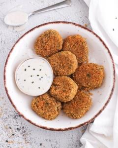 nuggets de brocoli rebozados con crunchy crumbs de esgir