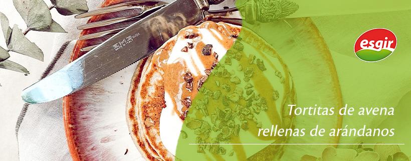 Tortitas de avena rellenas de arándanos